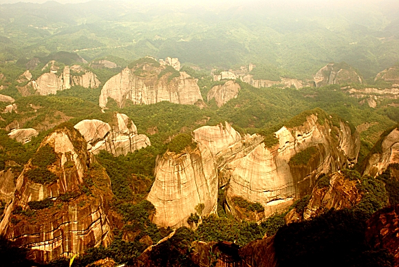 Hunan Langshan Danxia National Park in Xinning