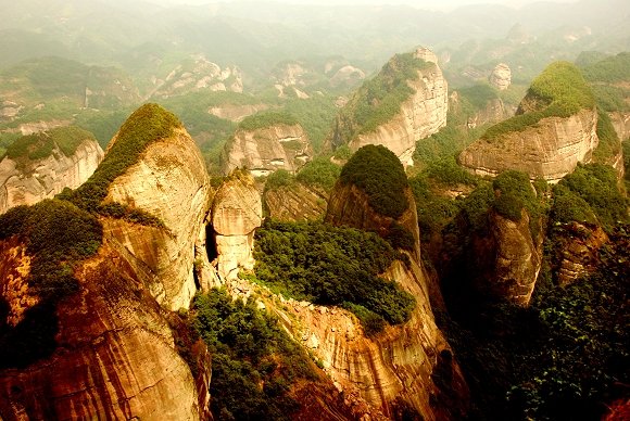 Langshan Danxia National Park in Xinning, Hunan