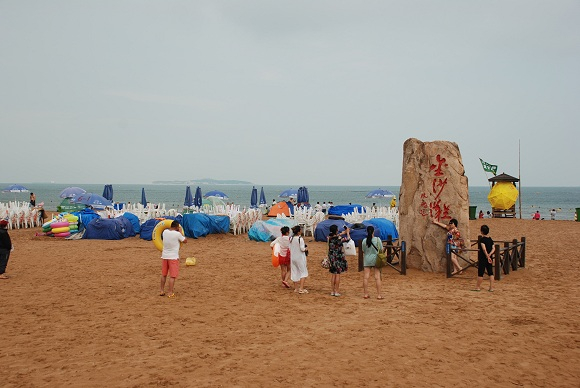 Goldsandstrand in Qingdao
