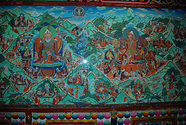 Thangka Rollbild in Xining